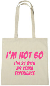 Details About Im Not 60 Bag 60th Birthday Gifts Presents For Year Old Women Wife Sister