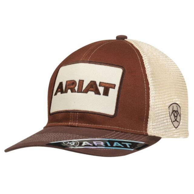 f2a9e0519e940 sweden ariat mens hat baseball cap mesh snap logo patch brown 1500502 6c725  11304