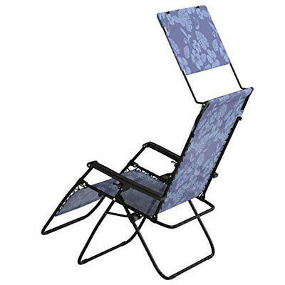 Astonishing Bliss Hammocks 33 Inch Reclining Zero Gravity Chair With Canopy Blue Flowers Ebay Squirreltailoven Fun Painted Chair Ideas Images Squirreltailovenorg