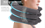 miniature 9 - 360° Inflatable Cervical Neck Head Pain Traction Support Protection Brace Pillow