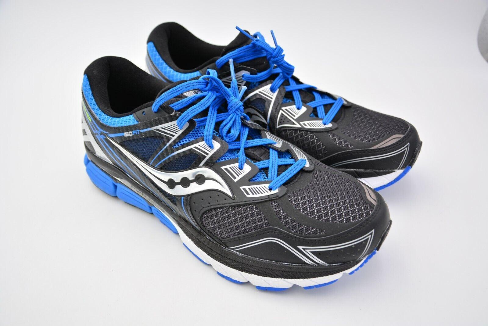 Saucony Para hombre rojoeemer ISO Calzado para Correr Negro azul tamaño nos 12.5 UE 47 Usado