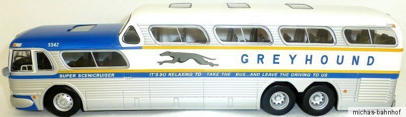 Greyhound Scenicruiser Bus USA 1956 1956 1956 Ixo for Hachette 1 43 Nip GA2 Μ bd2d9a