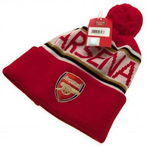 77b95b2fbce Arsenal FC Gunners Football Club Ski Bobble Knitted Hat Red Crest ...