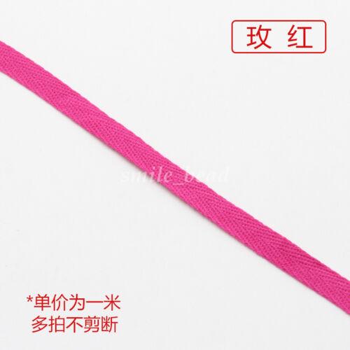 Chic Cotton Binding Tape Bias Ribbon Strap Sewing Webbing Trimming 1cm 19 Colors