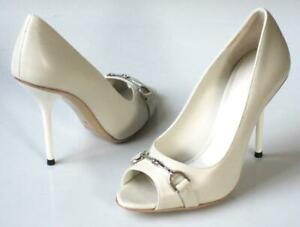 new-650-GUCCI-off-white-horsebit-logo-heels-open-toe-shoes-bridal-wedding
