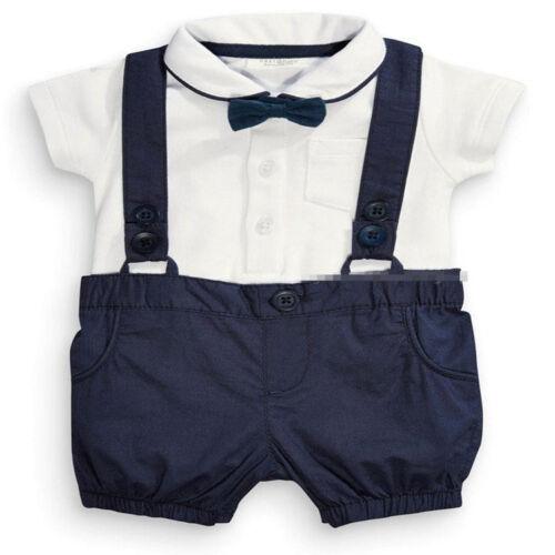 2PCS Toddler Baby boys short sleeve T-shirt+suspender shorts gentleman Sets