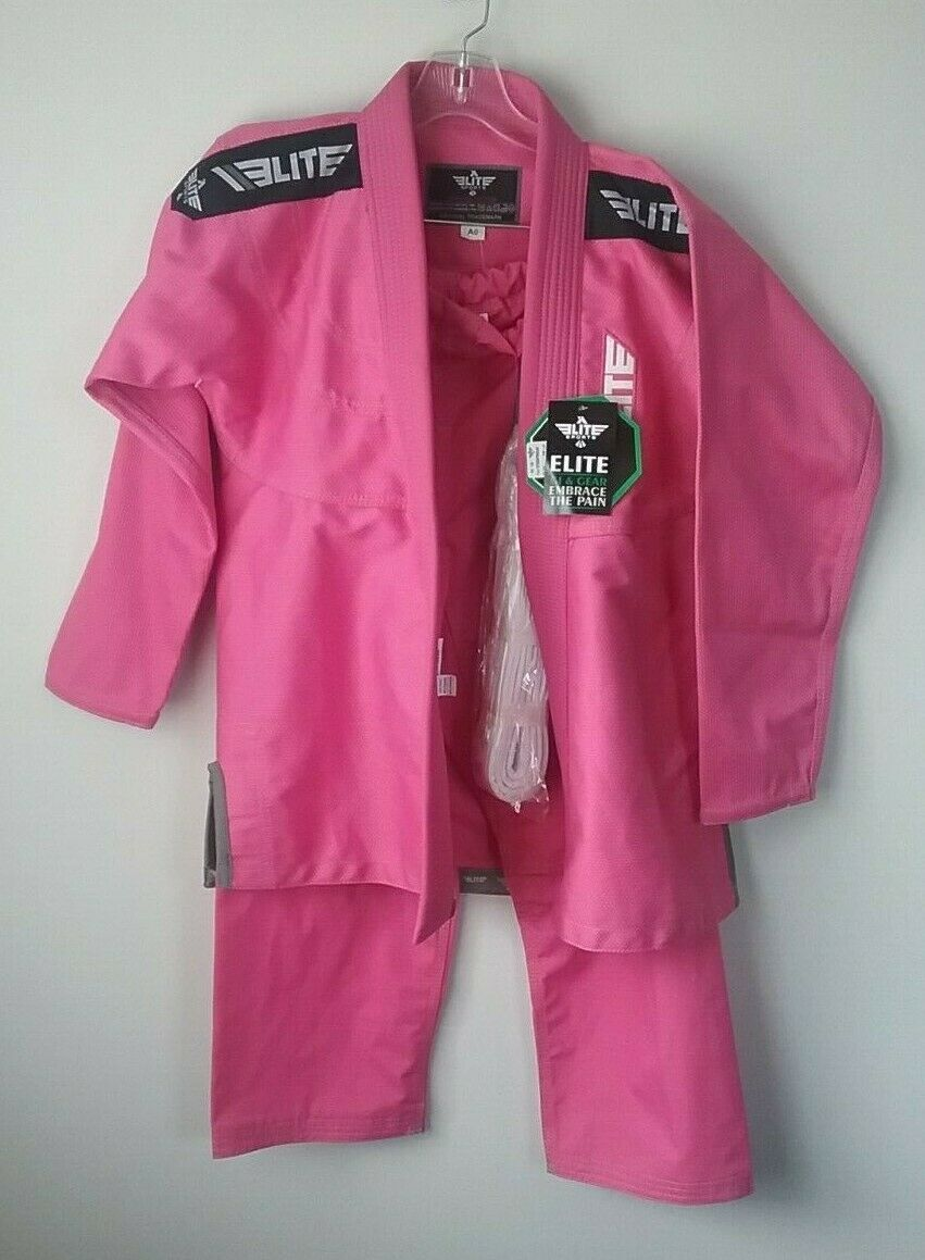 Elite Sports Embrace The Pain  Size C3 Jiu Jitsu, Karate Suit top and pants  NEW