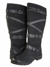 Sofft Bachet 6 Black Leather Strap Buckle Tall Riding Boots New with Box $199
