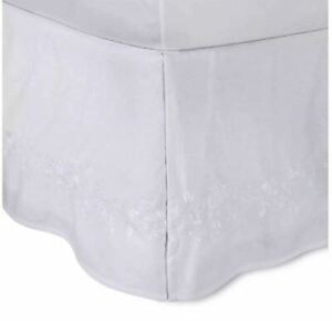 Simply Shabby Chic Embroidered Bed Skirt Twin White ...