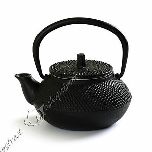 New 300ml Black Hobnail Tetsubin Kettle Cast Iron Tea Pot