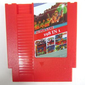 NEW Super Games 198-in-1 (8-Bit NES Nintendo) Red Video Game Cartridge