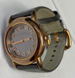Women's Marc By Marc Jacobs Watch 32.5mm Round Rose Gold Tone Case New Battery