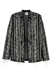 H-amp-M-STUDIO-COLLECTION-A-W-2016-Velvet-Chains-Embroidered-Blazer-Jacket-EUR-36
