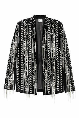 H&M STUDIO COLLECTION A/W 2016 Velvet Metal Chains Embroidered Blazer Jacket