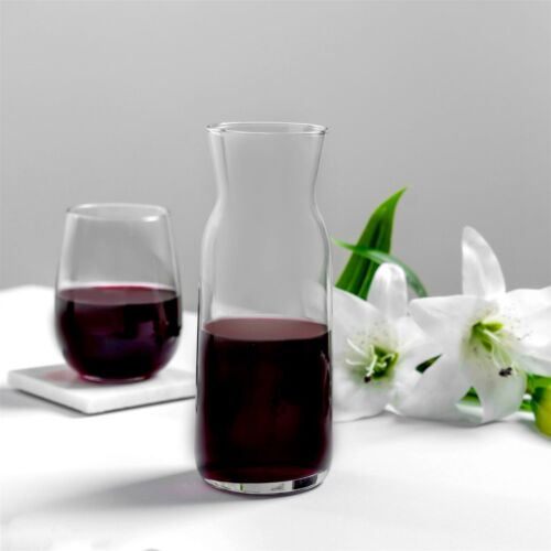 Glass Carafe Water Wine Juice Jug Pitcher Decanter 700ml