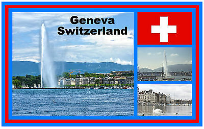 Switzeland Swiss Bandiera Nazionalità Paese stato Novità Divertente Frigo Calamita