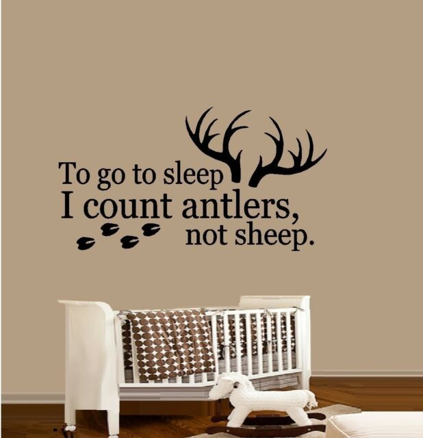To go to Sleep I count Antlers Not Sheep # 2 ~ Wall Decal: Nursery