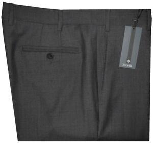 395-NWT-ZANELLA-DEVON-SOLID-DARK-CHARCOAL-SUPER-120-039-S-WOOL-MENS-DRESS-PANTS-38