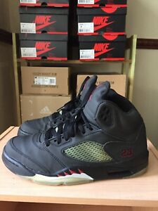 differently 8031d cc957 Details about nike air jordan 5 black varsity red 3M glow in the dark 100%  authentic