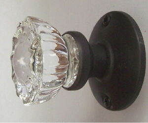 Image Is Loading 3 Fluted Crystal Glass Amp Oil Rubbed Bronze