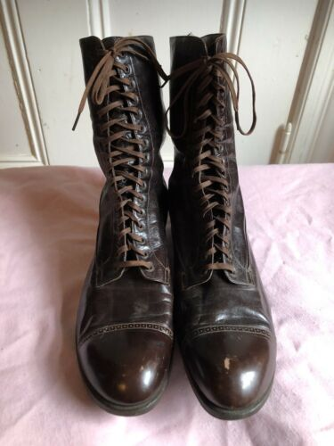 Teens Era early 1920s Antique Lace up Boots Witchy