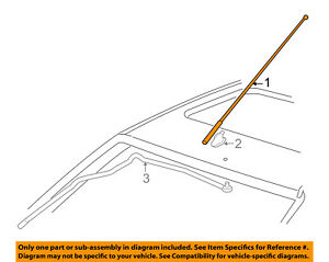 Ford Focus 2003-2004 Factory OEM Replacement Radio Stereo Powered Antenna Mast