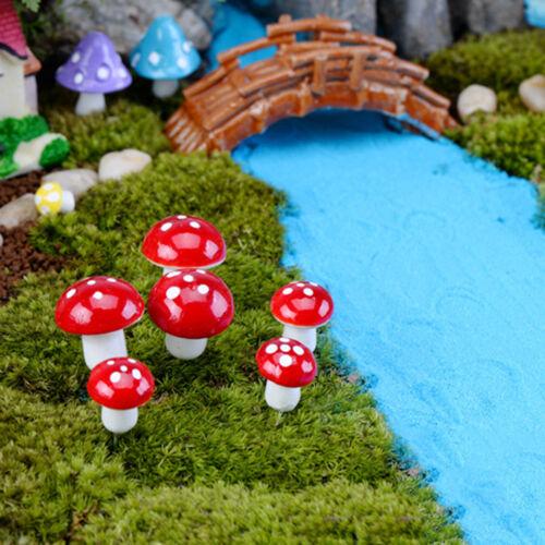 Mini 20x Mushroom Garden Ornament Miniature Plant Pot Fairy DIY Dollhouse V!