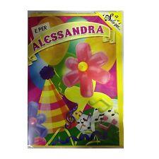 Tarjeta de cumpleaños musical genérico canta nome ALESSANDRA Y FELIZ En TE