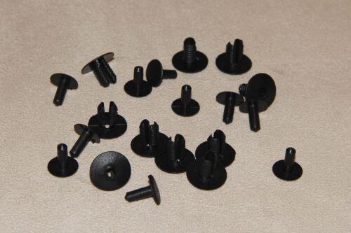 TAPPETO /& rivestimenti 10pcs PORSCHE 928 Nero Rivetti-pannelli per interni