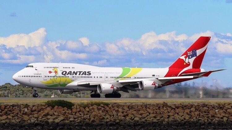 Inflight 200 IF744QFA2016 1/200 Qantas Boeing 747-400 Olimpico Livrea con