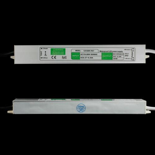 DC12V LED Trafo Transformator Netzteil Wasserdicht IP67 f LED Strip 20-200W DHL