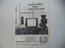 advertising Pubblicità 1963 TELEVISORE TV PHILCO