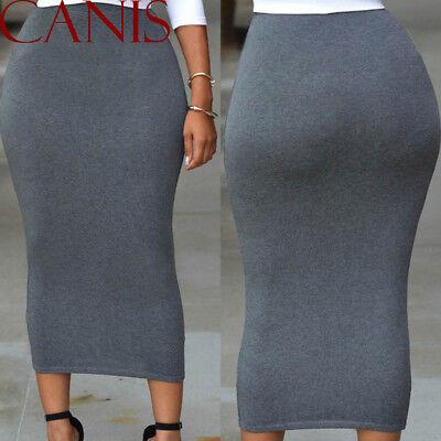 Muslim Thick Skirt Bodycon Slim High Waist Stretch Long Maxi Women Pencil Skirt