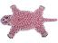 thumbnail 1 -  Pink Leopard Skin Shape 2 x3' Handmade Tufted 100% woollen Rugs