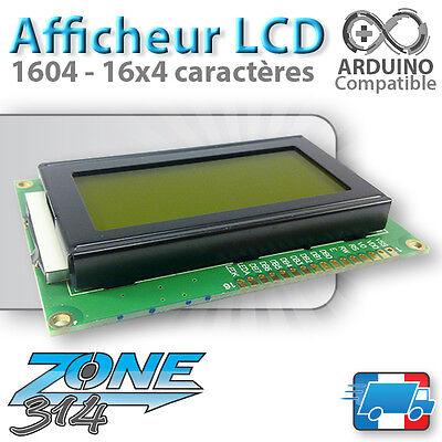 Afficheur LCD 16x4 1604 Arduino rétroéclairage ( Bleu / Blue ou Jaune / Yellow )