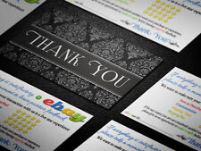 250 ebay seller professional thank you business cards ebay 250 professional thank you ebay seller business cards 5 five star rating elegant reheart Image collections