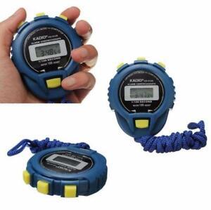 LCD-Chronograph-Digital-Timer-Stoppuhr-Sport-Zaehler-Kilometerzaehler-Uhr-Alarm