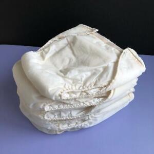 6-Vintage-DenBi-Washable-Pinless-Cloth-Diapers-Adjustable-Waist-Size-Large-HTF