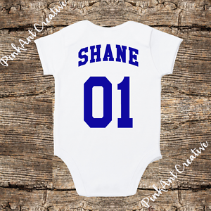 f33d3e13a Image is loading Personalized-Baseball-Softball-Jersey-Onesie-unisex-baby -clothes-