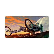 Punctuating The Sound Track Salzsee Dragster Race Retro Sign Blechschild Schild