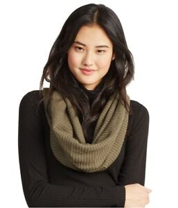 Aeropostale Womens Ribbed Infinity Scarf Wrap, Green, One Size