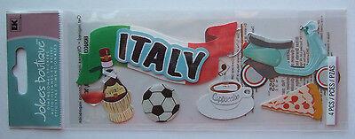 ~ITALY~ Jolee's Boutique Dimensional Stickers; ITALIAN Pizza Wine, VENICE, ROME