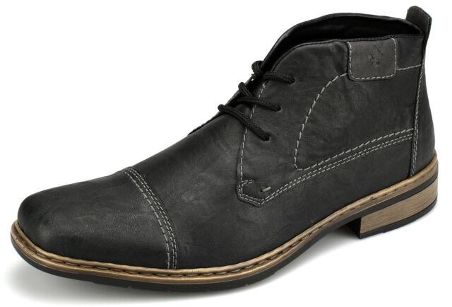 Rieker Herrenstiefel Boots Stiefelette Schnürschuhe schwarz Neu 3082000