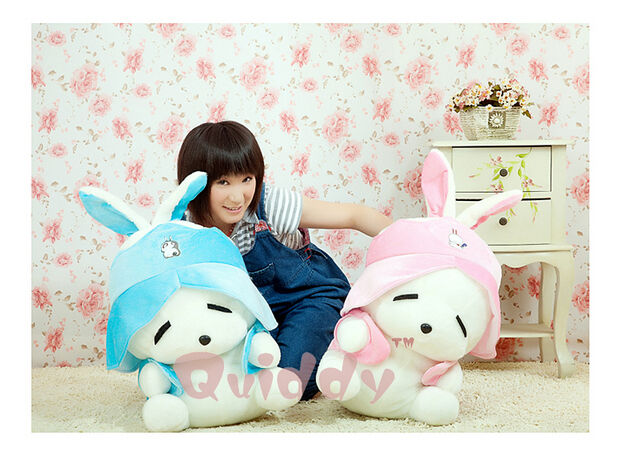 1pc Rabbits Cute Toy Plush Stuffed Pillow 30'' 2 colors Xmas Hot Birthday Gifts