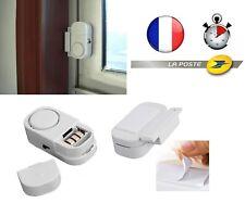 alarme Capteur ouverture de porte 90db fenetre sans fil kit detecteur sirene