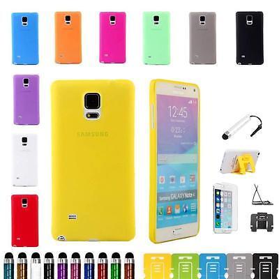 For Samsung Galaxy Note 4 Ultra Slim Matte Transparent Flex Hard Case Cover