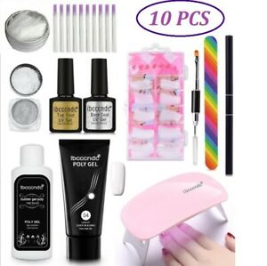 Fibernail-Fiberglass-Nail-Art-Silk-Extension-Acrylic-Tip-Manicure-Salon-Tool-Kit