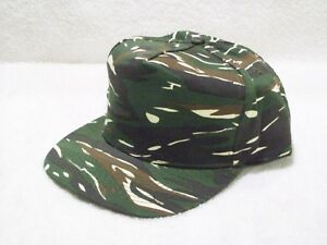 d5d69a4b7cd NEW DARK GREEN BROWN CAMOUFLAGE COTTON TWILL 5 PANEL HAT ADJUSTABLE ...