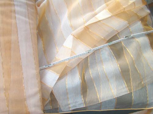 orange Organza Webgardine Stoff mit Bleiband 310 cm hoch Meterware
