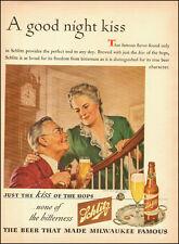 1944-Schlitz beer`Art, Glass Staircase, grandparents, bottle-Vintage Ad (101914)